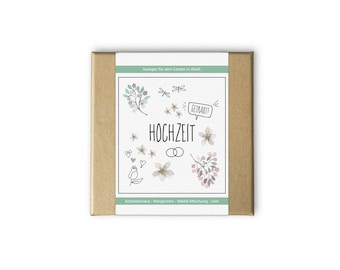 Wedding box - even as a personal gift idea - seeds and seeds for the garden