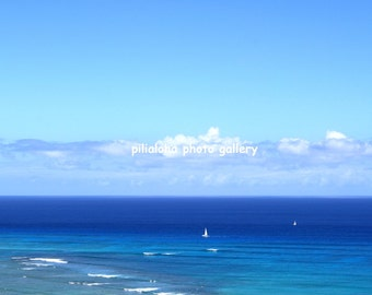 Hawaii ocean and Yacht Digital Photo Download