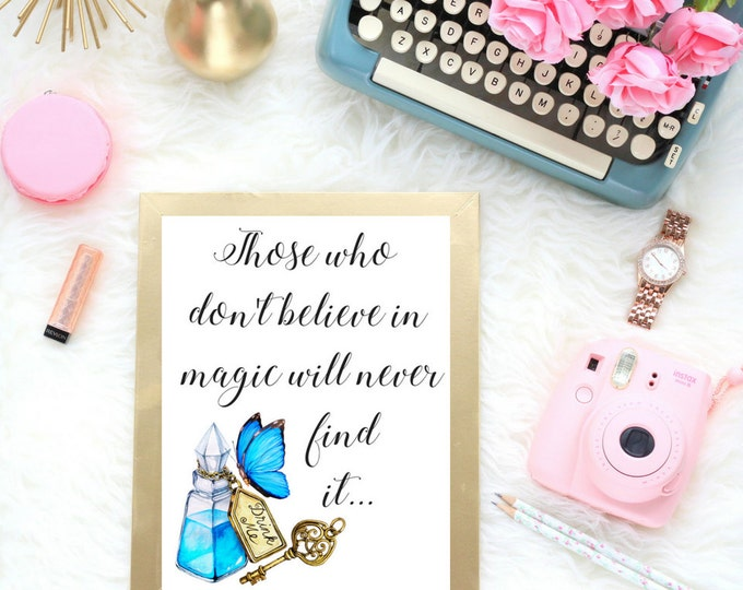Alice In Wonderland Magic | Typographic Print | A4 Printable (Law Of Attraction)