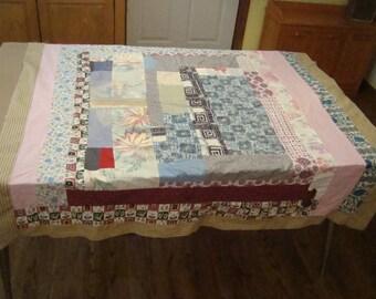 Vintage Antique Quilt Top, Log Cabin Variation *SALE*