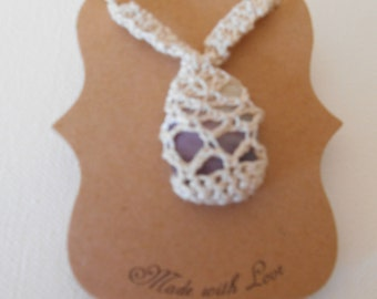 White Crochet Shell Necklace (W1)