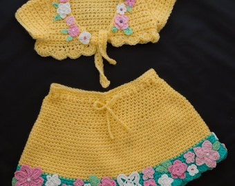 All baby - bolero and skirt-