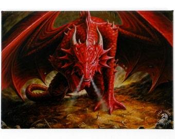 Anne Stokes Dragons Lair Fridge Magnet