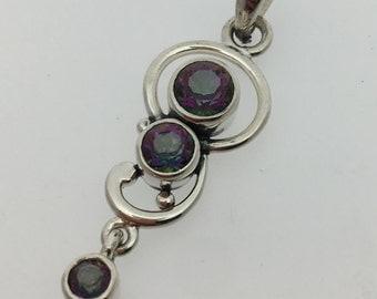 Mystic Quartz Sterling Silver Pendant