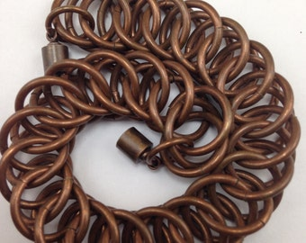 Copper Chainmail Bracelet (HP 4-1)