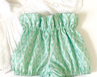 Sweet {Mint on White} Baby Girl/Toddler Bloomers
