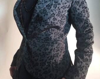 Vintage Beautiful Blazer Jacket (SIZE 10/EUR 38/US 8) Floral Womens