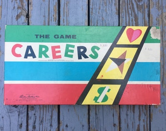 Vintage CAREERS Board Game 100% Complete 50's Parker Brothers
