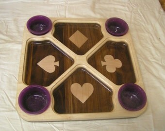 playing card chip & dip tray