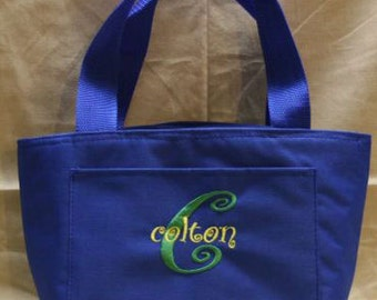 Personalized Embroidered Men's or Boy's Lunch Bag
