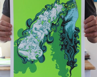 Three Wishes - Five colour limited edition screen print