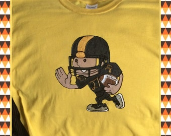 Football Player Kids T-shirt Hand Painted
