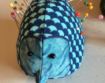 Hedgehog pincushion, fabric with sand fill