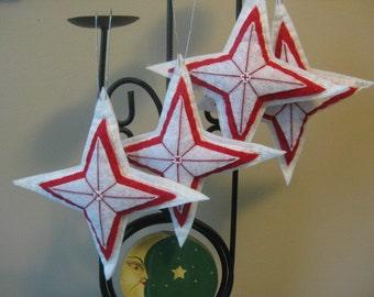 Sparkly Felt Christmas Star Ornament