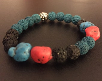Bracelet with volcanic stone