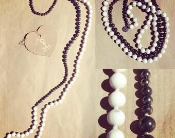 Gemstone necklace Pyrite white turquoise
