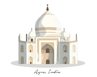 Print of Taj Mahal
