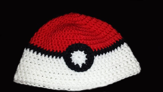 Crocheted Pokeball hat