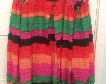 Vintage Bright Open Shirt