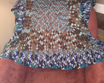 Blue And Brown Blanket