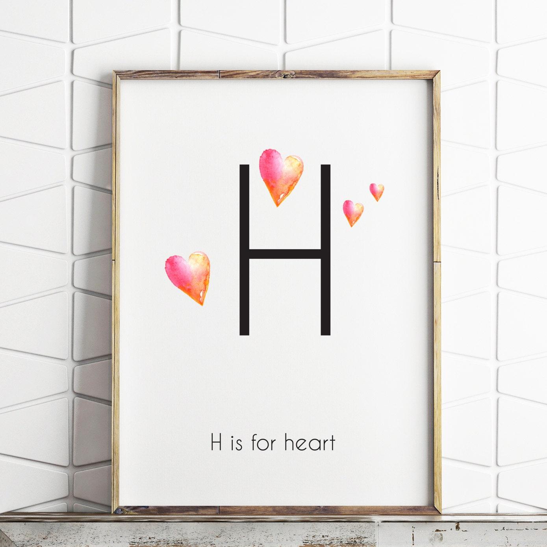Wall Art Love Heart : Heart wall decor printable art decorations love