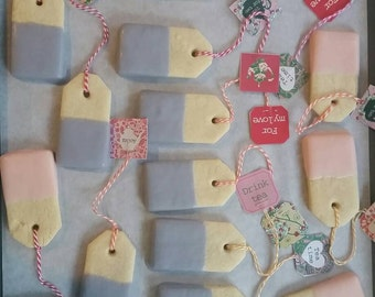 Chocolate dipped Tea bag Sugar Cookies(2 Dozen)