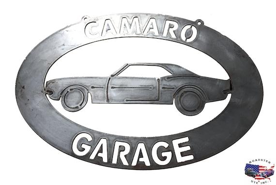 Camaro Garage - Plasma Cut Metal Shop Sign