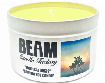 Tropical Oasis Soy Candle