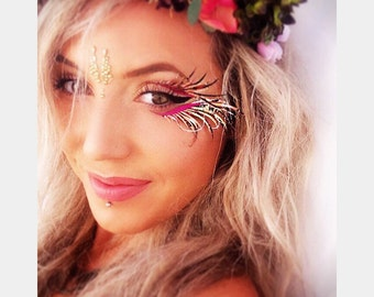 Festival eyelashes, face gems, Halloween, Burning man, mermaid, embelishments