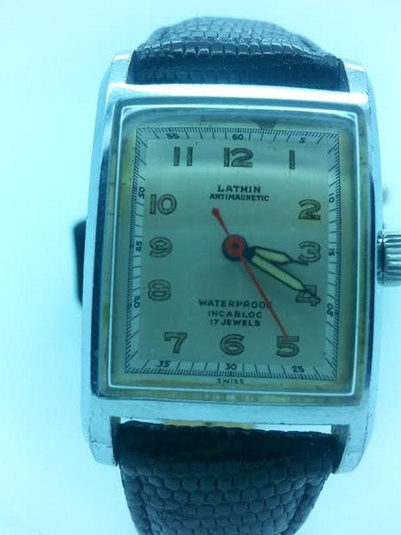Vintage Lathin Watch 17 Jewels Incabloc Kingston Watch Co ...