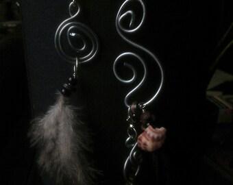 fairy feather earrings