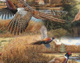 Wild Wings Scenics Feathered Run Pheasants Fabric From Springs Creative