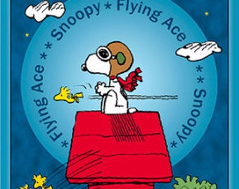Peanuts Snoopy Flying Ace Fabric From Quilting Treasures
