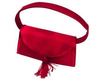Vintage Red Satin Handbag