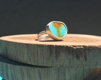 Turquoise ring sterling silver setting