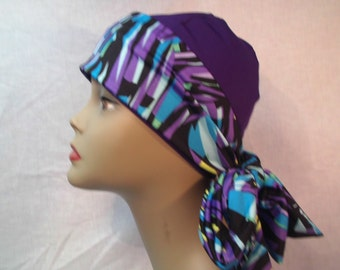 Purple cap and scarf