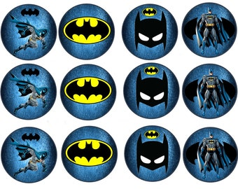Batman Edible Images Cupcake, Cookie Toppers 2.5 inches