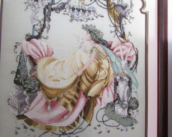 Fairy Idyll-Mirabilia designs-Completed Framed Cross Stitch