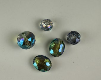 Vintage Czech Glass AB Crystals #171