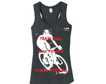 Ride To Win Racerback Tanktop