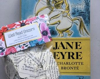 Jane Eyre Charlotte Brontë Heart Confetti