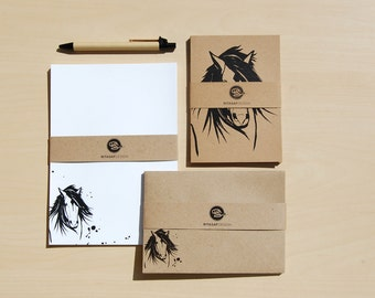 Boxed Letter Writing Set with Cards and Envelopes – Stationery Gift Set, Horse