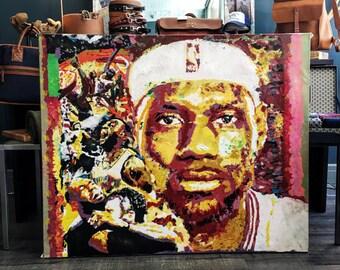 Lebron James Canvas Painting