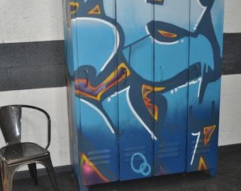 Industrial furniture / dressing room, locker / street ART (tolix, mimeo)