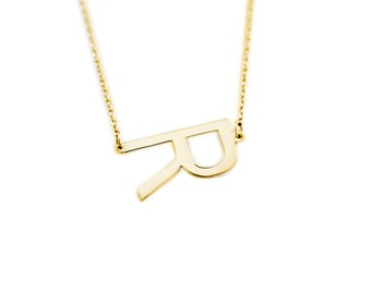 14K Custom Initial Necklace