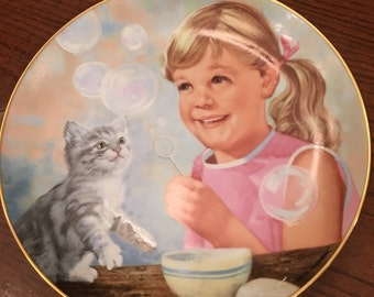 "New Reduction! Limited Edition Vintage Collectors Plate.  ""Feline Fancy""Rare Find"
