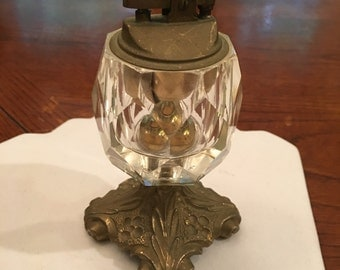 Price reduction! Vintage Lead Crystal Cigarette Lighter