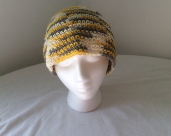 Hand crochet 100% cotton hat