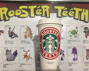 Roosterteeth Inspired Starbucks Cups SALE