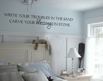 Beach house lake house inspirational Large vinyl decal vinyl wall decal